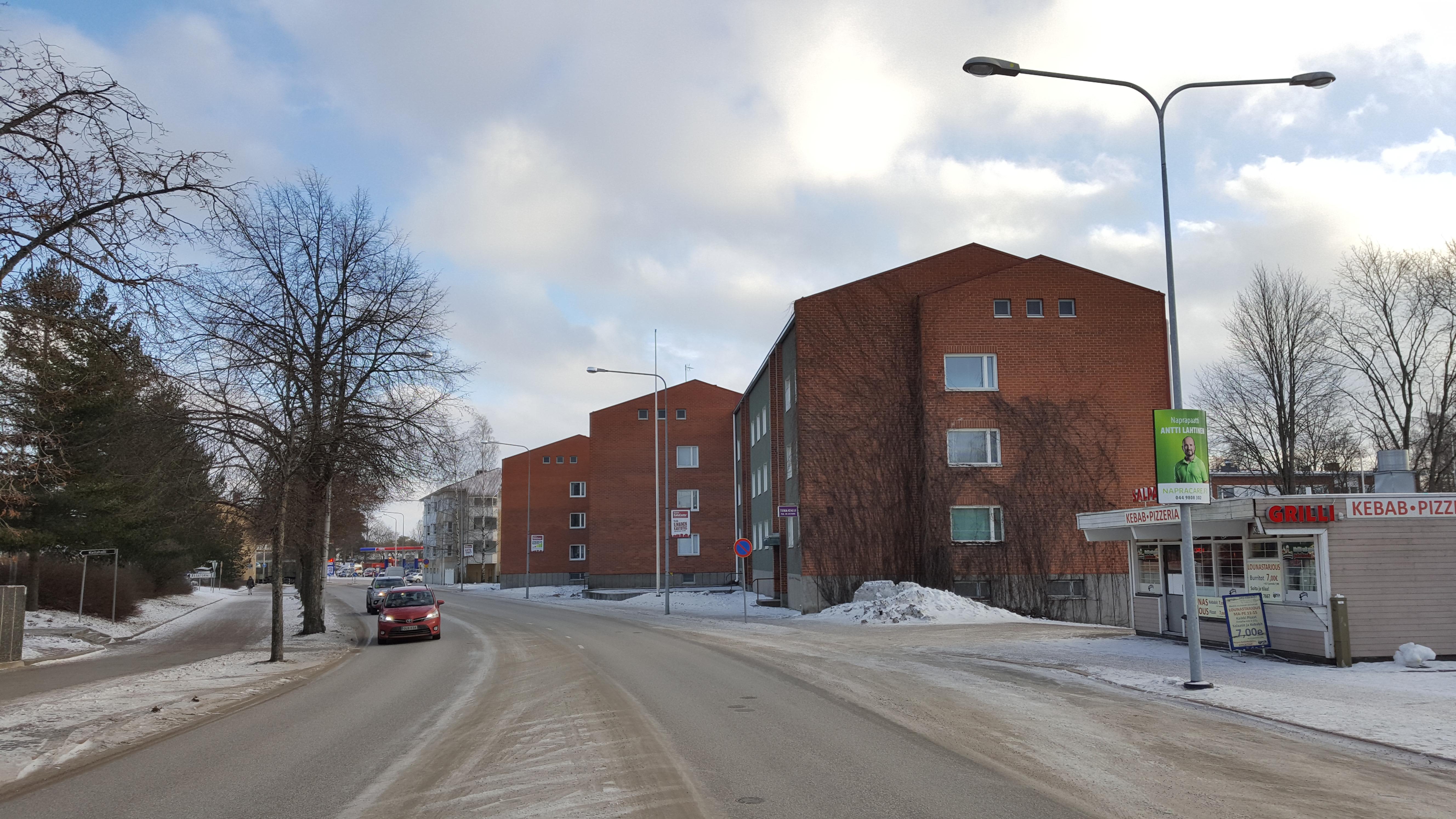 As. Oy Satosalpa, rakennus kuvattuna Salpausselänkadulta.