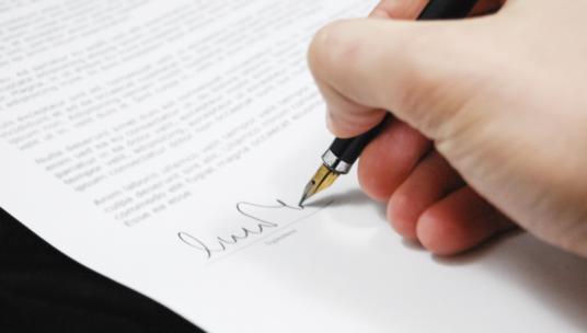 Paperin allekirjoitus