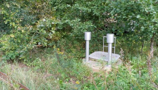 Jäteveden pumppaamo maastossa