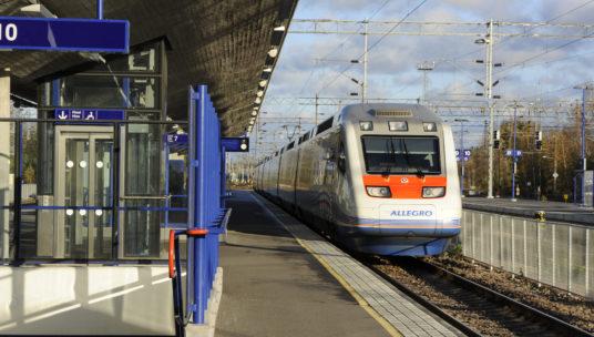Allegro-juna Kouvolan asemalla