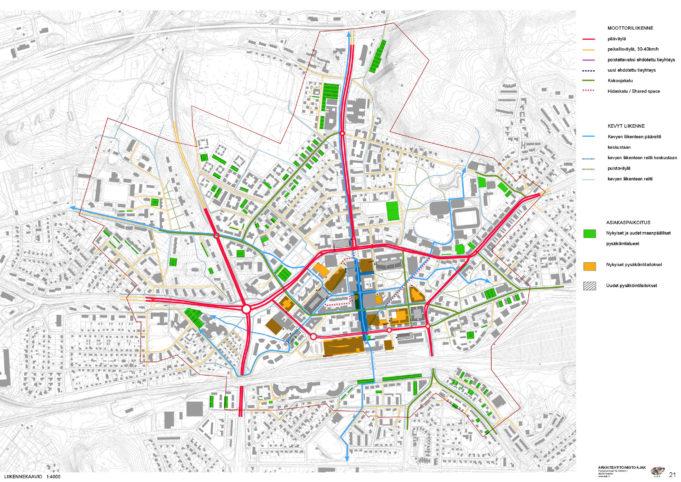 Keskustavisio 2030 liikennekaavio