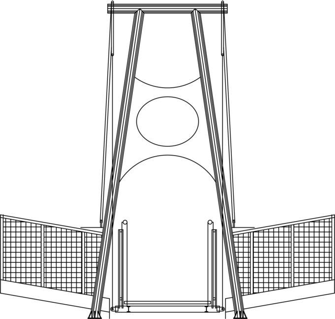 Suunnitelmakuva Lapinsalmen sillasta: sillan pääty