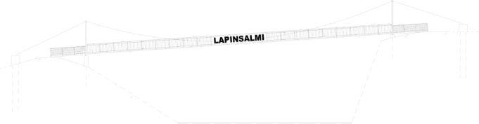 Suunnitelmakuva Lapinsalmen sillasta: sivukuva