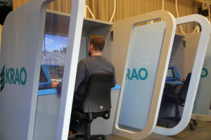 Compact simulator at KRAO.