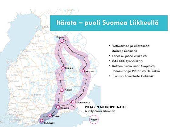 Puoli Suomea Liikkeella Itarataa Tarvitaan Kouvolan Kaupunki