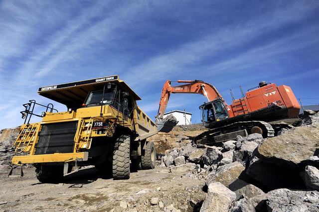 Työkoneita Kouvola RRT työmaalla - construction machines in Kouvola RRT project