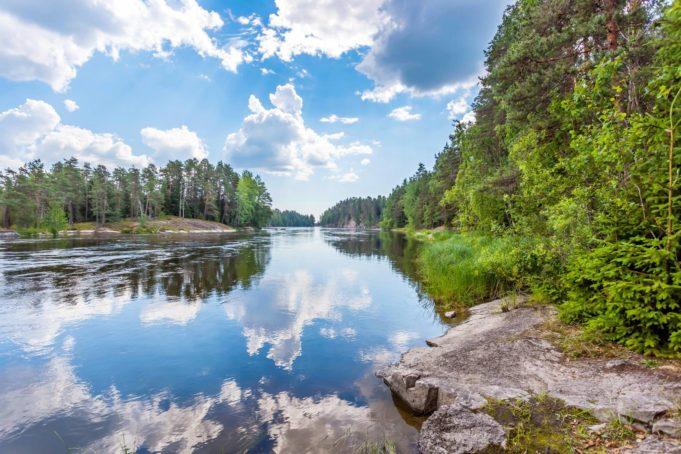 Kuva Kymijoelta Känkkärän laavulta