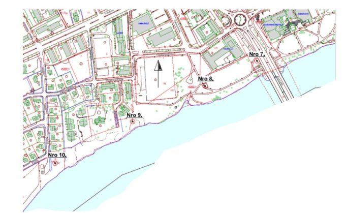 Kuusankosken rantapuiston suurjännitepylväät kartta