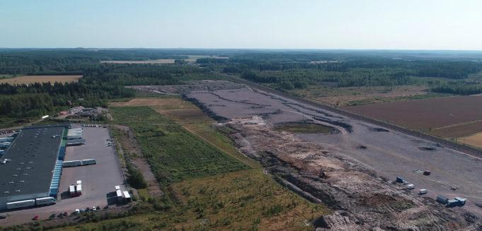 Kouvolan RR-terminaalin rakenntaminen Kullasvaaraan on käynnissä.