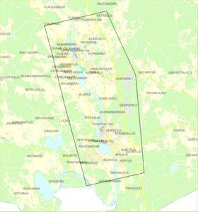 Laserkeilattava alue Myllykoski-Anjala