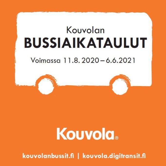 Talven painettu bussiaikataulukirja on voimassa 11.8.2020 - 6.6.2021.