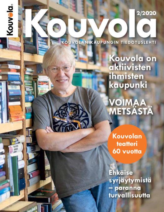 Kouvolan kaupungin tiedotuslehden kansilehti.
