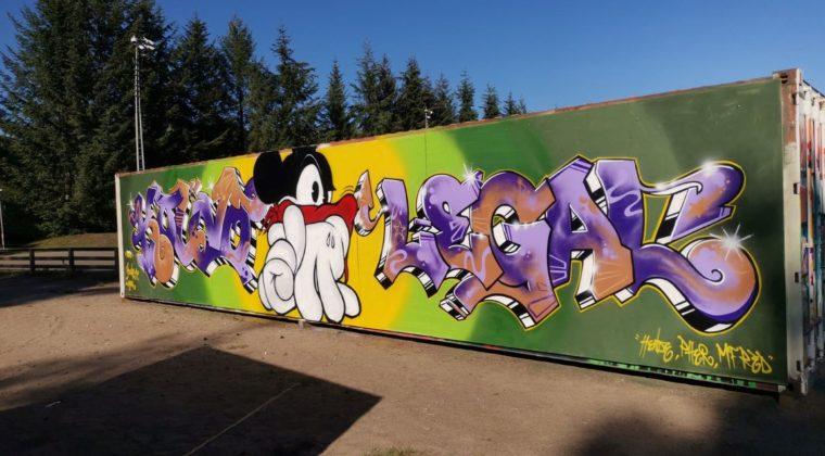 Lehtomäen taidekontissa on uusia graffiteja