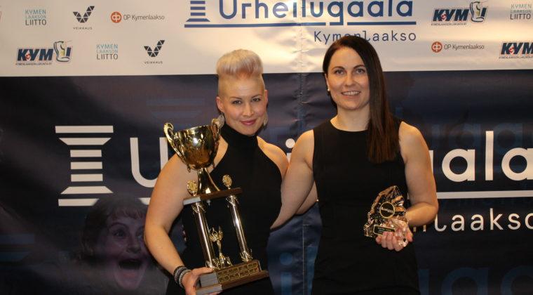 Johanna Immonen ja Heidi Haapiainen palkintotilaisuudessa